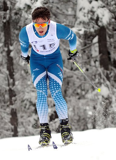 <who>Photo Credit: Lorne White/NowMedia </who>Kelowna's David Walker finished third in Loppet skiathlon.