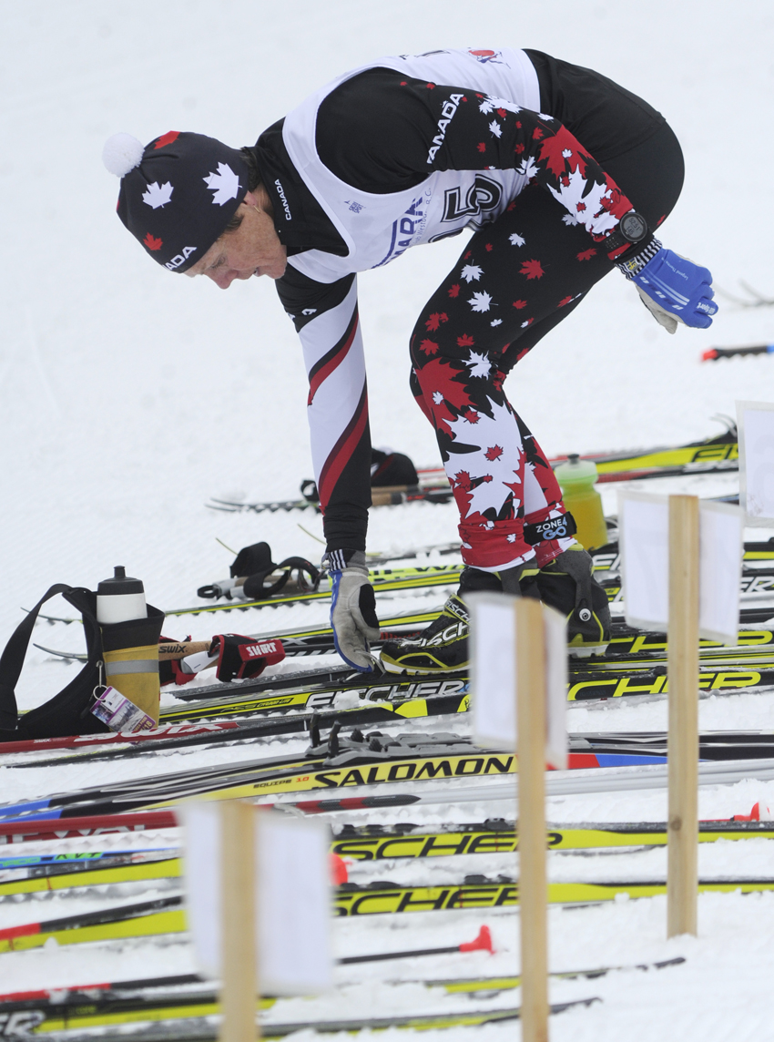<who>Photo Credit: Lorne White/NowMedia </who>Coldstream's Pat Pearce, skiing in the skiathlon's 60-69 age category, placed third overall among the women.