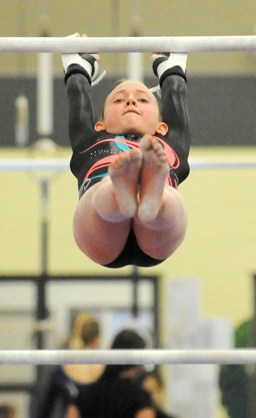 <who>Photo Credit: Lorne White/KelownaNow </who>It was a silver-medal performance for Amanda Jaggard on the uneven bars.
