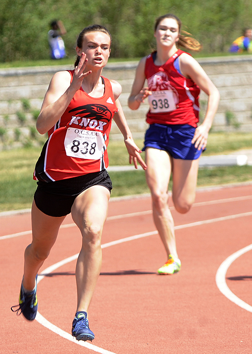 <who>Photo Credit: Lorne White/KelownaNow </who>Another three wins and an Okanagan Valley record for Dr. Knox Falcons' Emma Cannan.