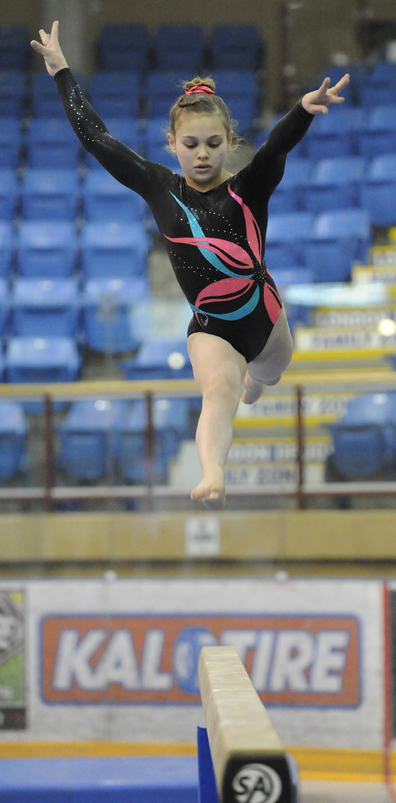 <who>Lorne White/KelownaNow </who>Lucia Jakab of the Okanagan Gynastics Centre finished first <br>overall in the Level 10 category.