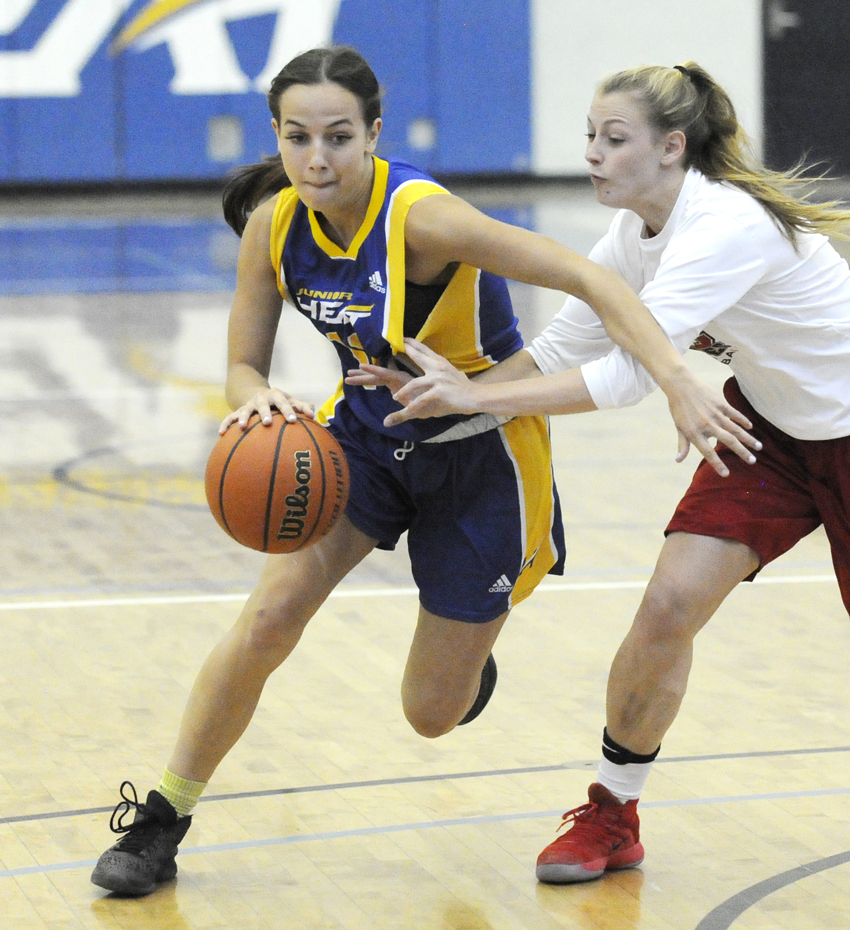 <who>Photo Credit: Lorne White/KelownaNow </who>Kelowna's Paige Watson sparked the Heat in victory over Grant MacEwan.