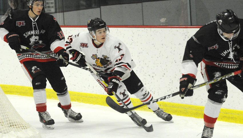 <who>Photo Credit: Lorne White/NowMedia </who>The Chiefs' Tyler Love scored once and assisted on three in Friday's lopsided win at the Rutland Arena.