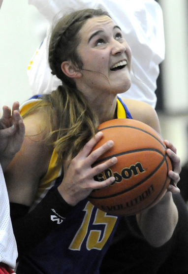 <who>Photo Credit: Lorne White/KelownaNow </who>Kelsey Falk led the Heat with 18 points in semifinal loss.