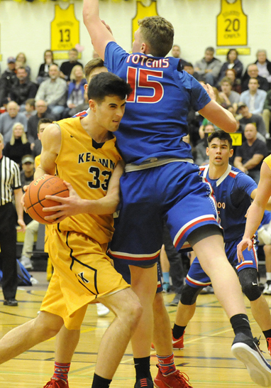 <who>Photo Credit: Lorne White/KelownaNow </who>Owen Keyes contributed 17 points for the Owls on Friday.