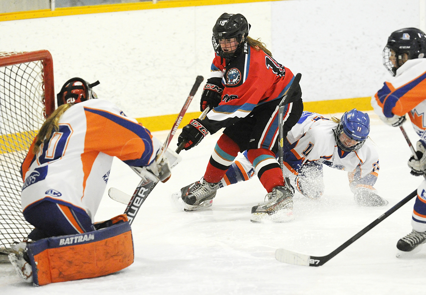 kelowna bantam girls tie and win on opening day of bc hockey provincials