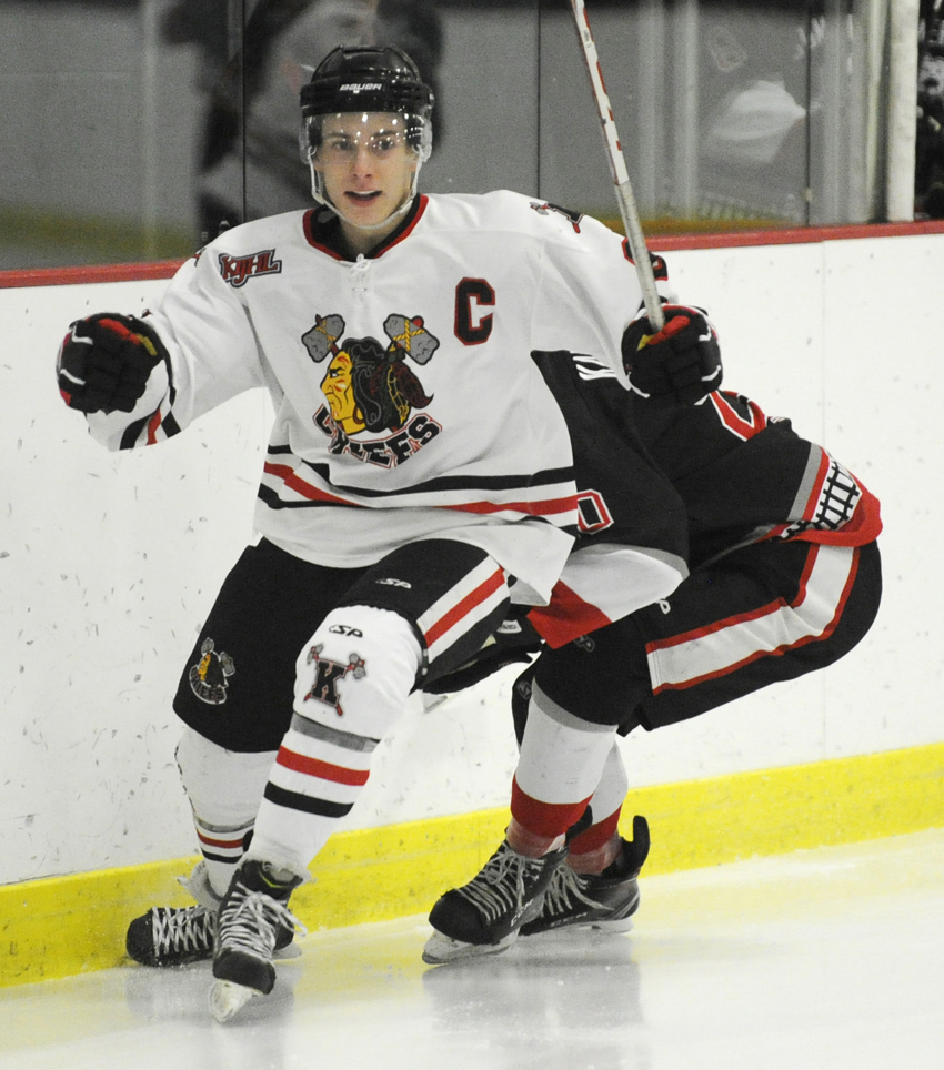 <who>Photo Credit: Lorne White </who>Brett Witala scored the lone goal for the Chiefs in Summerland on Friday.