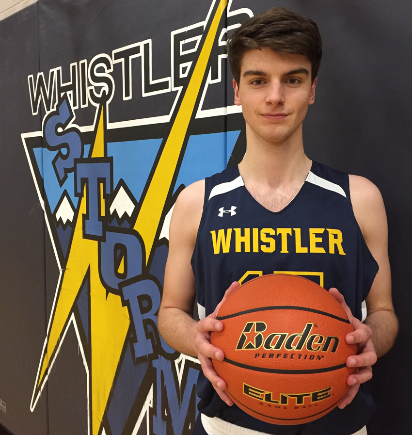 <who>Photo Credit: Contributed </who>Six-foot-five Riley played four years of senior high basketball at Whistler.