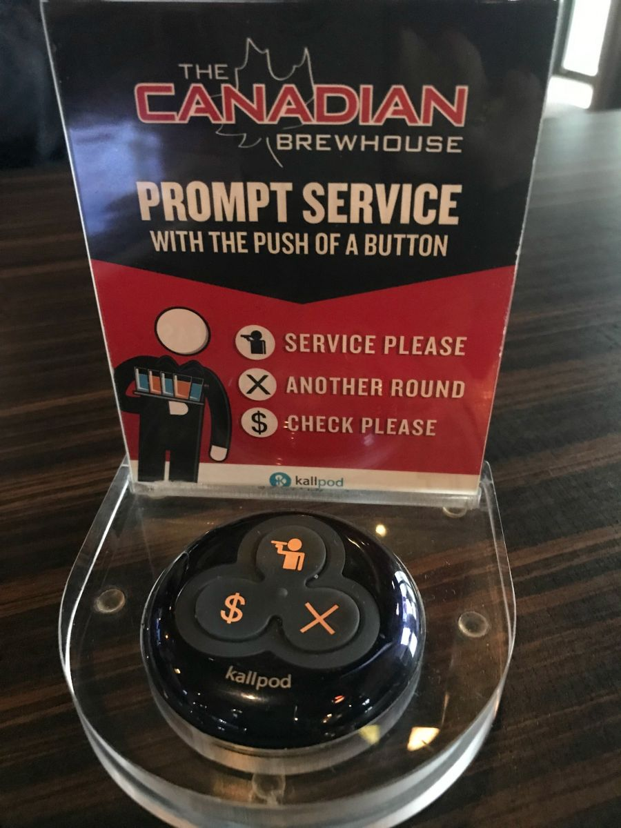 <who>Photo Credit: Contributed</who>The Canadian Brewhouse's Kallpod Tabletop Device