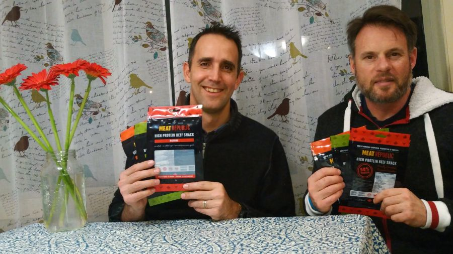 <who>Photo Credit: Contributed</who>Bolting Beef Jerky - Hugo Frouws (L) and Johan Gouws