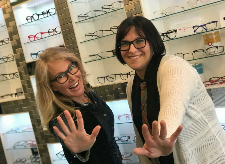 <who>Photo Credit: Contributed</who>Wink i Wear Optical Boutique: Laura Draycott (L) and Sharlene Perry