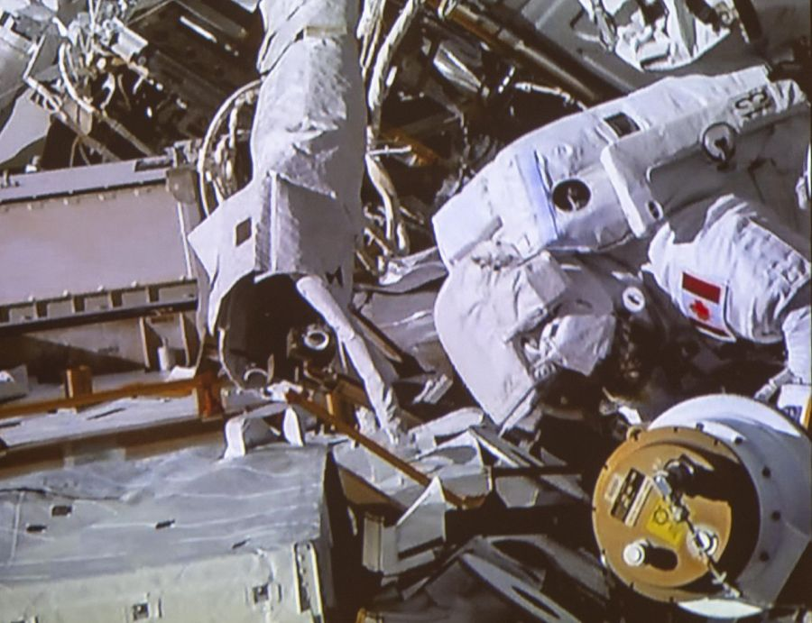 Canadian astronaut describes spacewalk as 'pure joy'
