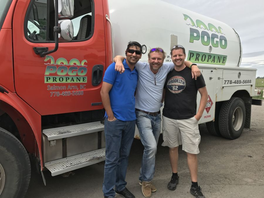 <who>Photo Credit: Contributed</who>Pogo Propane - (L to R) Sammy Malhi, Bradley Meyer and Rick Wiebe