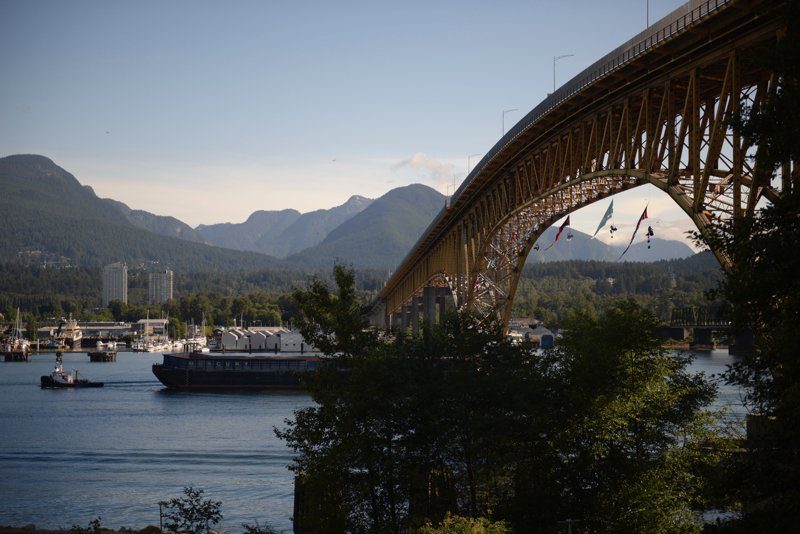 Protesters rappel from Vancouver bridge to block Trans