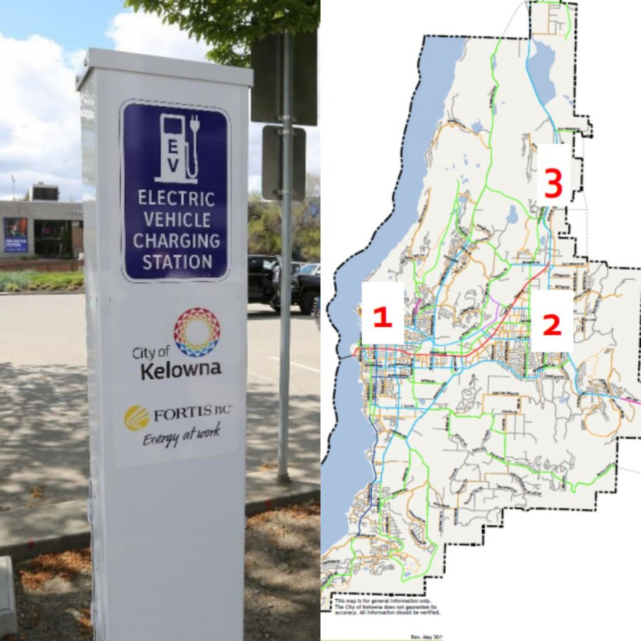 Several more electric car charging stations coming to Kelowna