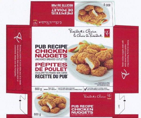 President's Choice brand Pub Recipe Chicken Nuggets recalled due to Salmonella