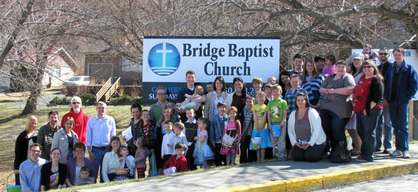 <who> Photo Credit: Bridge Baptist Church </who> The Bridge Baptist Church has a young congregation of families and youth.