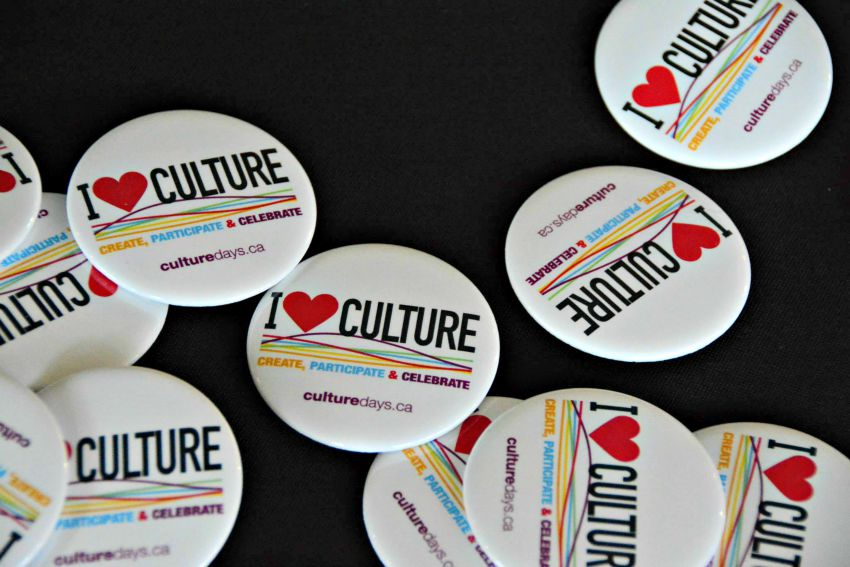 <who> Photo Credit: KelownaNow.com </who> Culture Days pins encourage Canadians to create, participate, and celebrate.