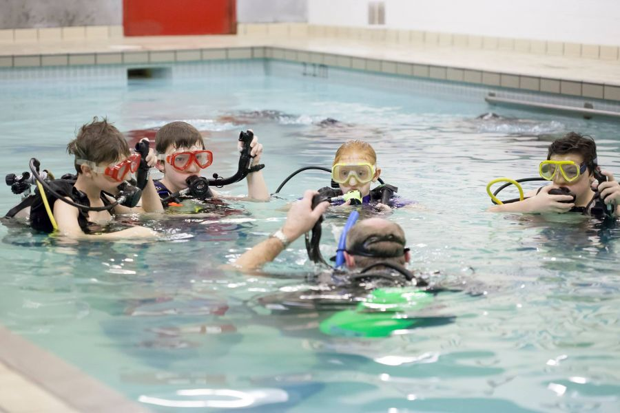 <who>Photo Credit: Contributed</who>Navy League Cadets in the pool