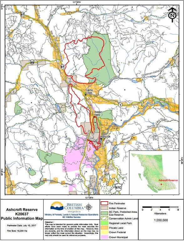 UPDATE Elephant Hill Fire Contained - Us electoral map fire