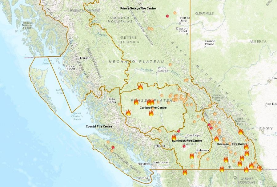 This Interactive Map Shows That B C S Wildfire Season Is Far From Over