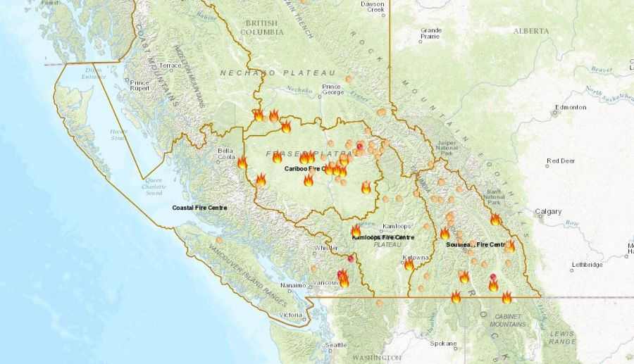 This Interactive Map Shows All Of B C S Wildfires