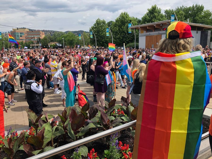 VIDEO: Biggest crowd ever for Kelowna Pride march