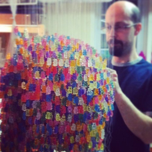 Sweet chandelier made entirely of gummy bears aloadofball Images