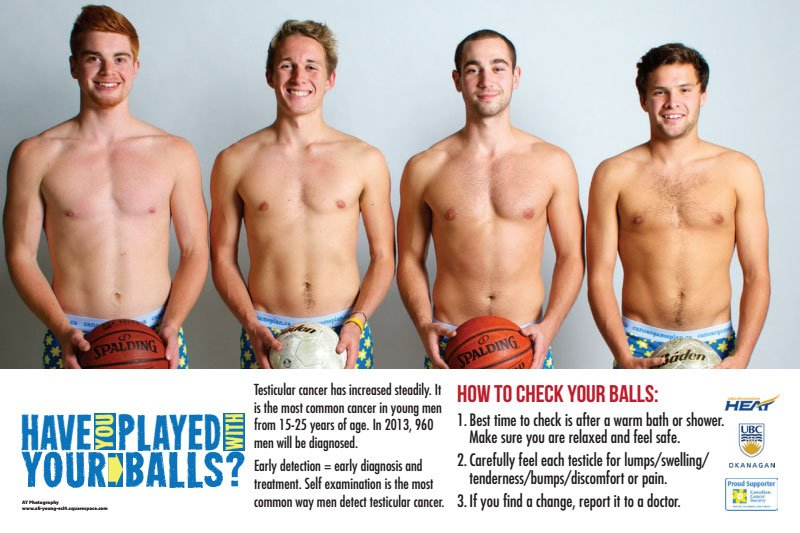 Have You Played With Your Balls Asks Ubco Testicular Cancer Campaign
