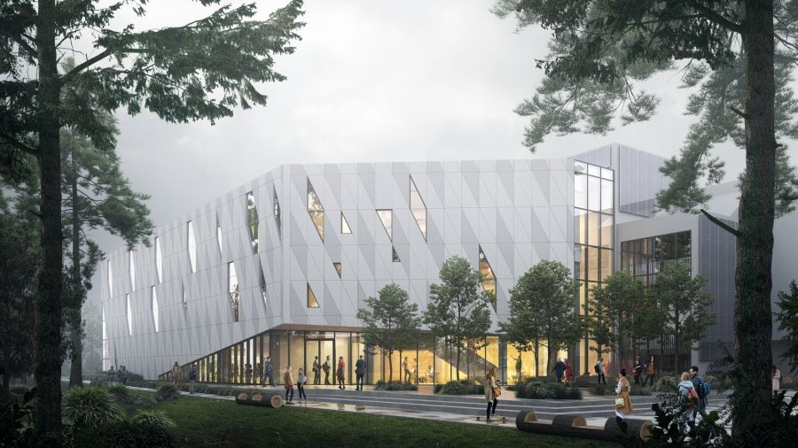 <who>Photo Credit: Okanagan College</who>A rendering of the Health Sciences Centre