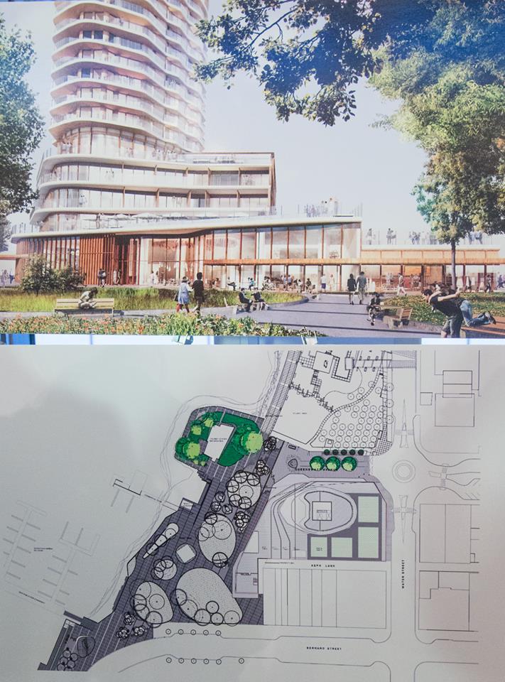 Developers present revamped parking design for downtown hotel for Hotel parking design