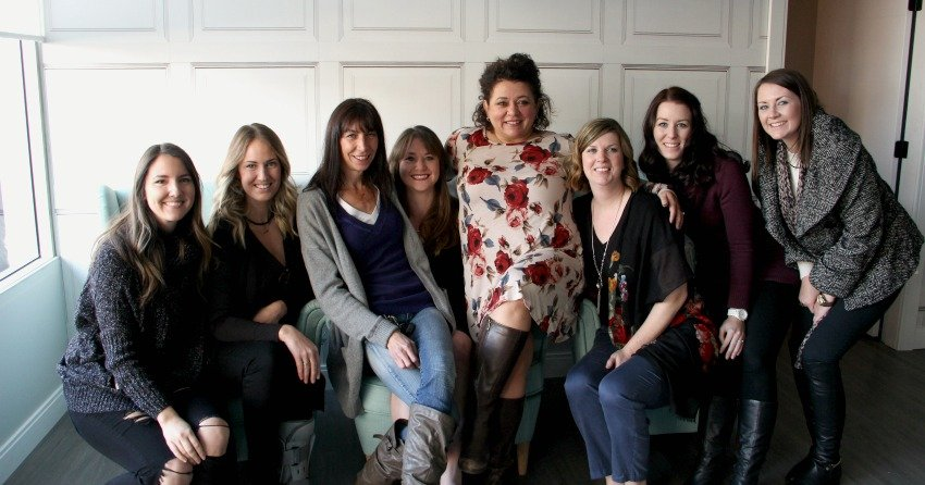 <who>Photo Credit: KelownaNow</who>The members of Mamas for Mamas and Sticks and Stones Design Group celebrate the grand opening of the new Mamas for Mamas location.