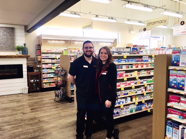 <who>Photo Credit: Contributed</who>Pharmasave - Luke Giesbrecht (L) and Chelsea Agnew