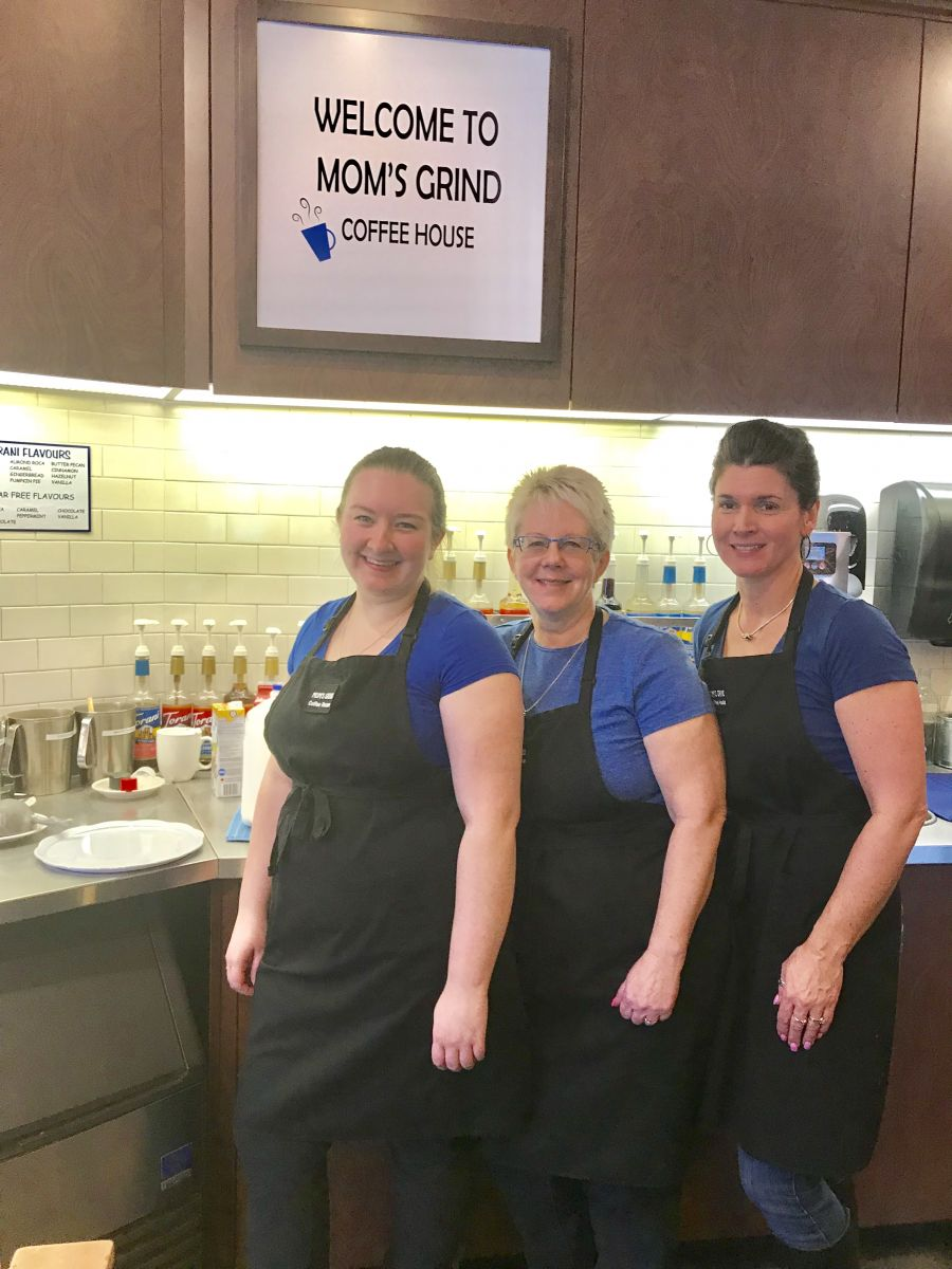 <who>Photo Credit: Contributed</who>Mom's Grind Coffee House - (L to R) Katelyn Slade, Shelley Zuccato (owner), Dawn Hurry
