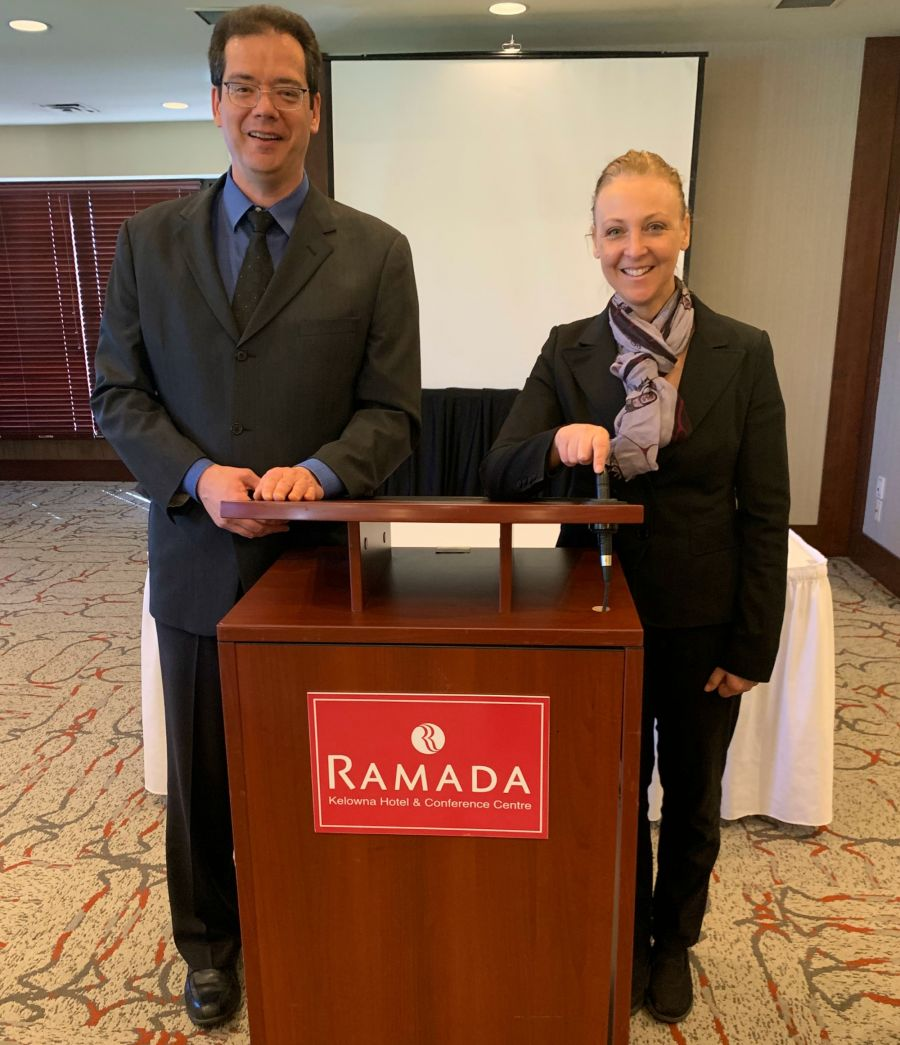 <who>Photo Credit: Contributed</who>Ramada Hotel - Sergio Cunial (L) and Cindy Atkinson