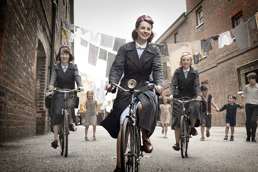 <who> Photo Credit: IMDb </who> Call the Midwife is set in east London in the 1950s.