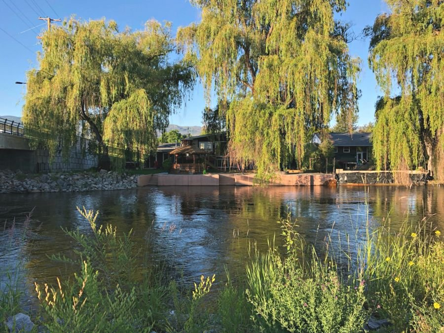 <who>Photo Credit: KelownaNow</who> Mission Creek at the Lakeshore bridge on June 12, 2018.