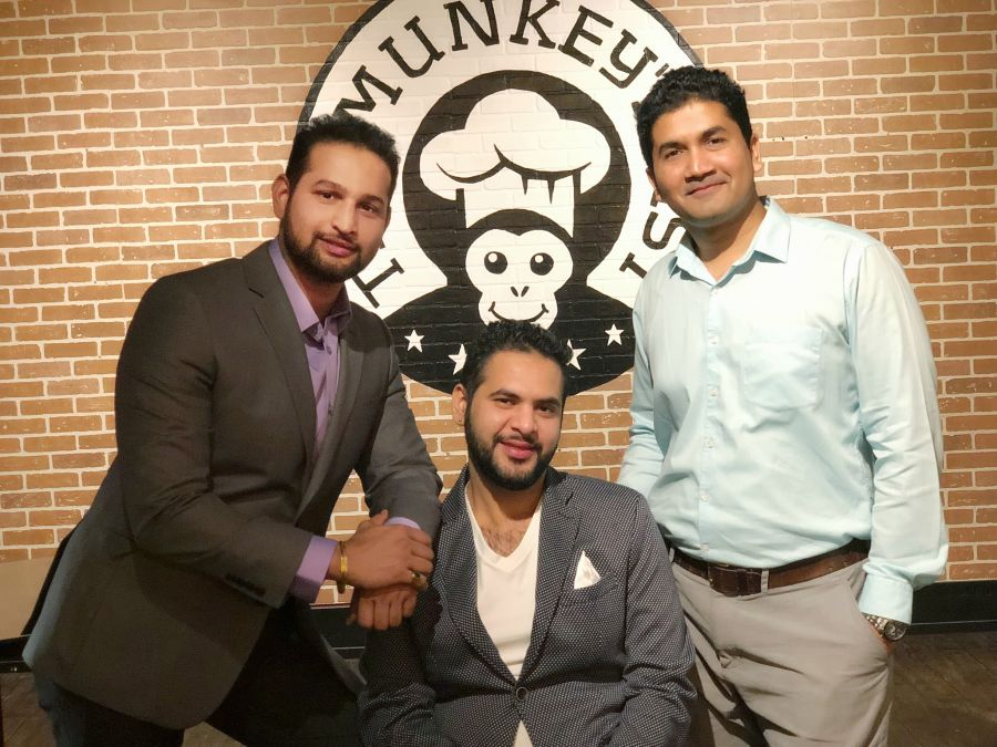 <who>Photo Credit: Contributed</who>The Munkey's Fist owners Himanshu Dubey, Ankit Mehra and Bhavesh Shinoe (L to R)