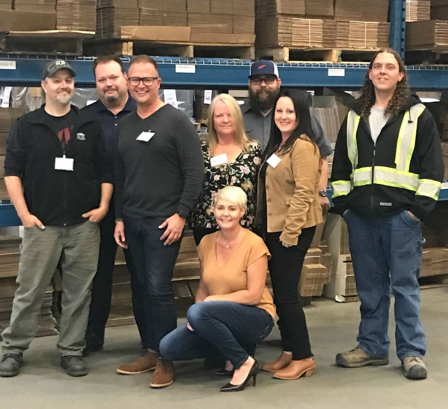 <who>Photo Credit: Contributed</who>Great Little Box Company (L to R) Jason Walker, Kelly Verokosky, Jayson Rodgers, Donna Lahay, Shaun Welder, Shari Guest, Michael Anctil and Doree Quayle.\