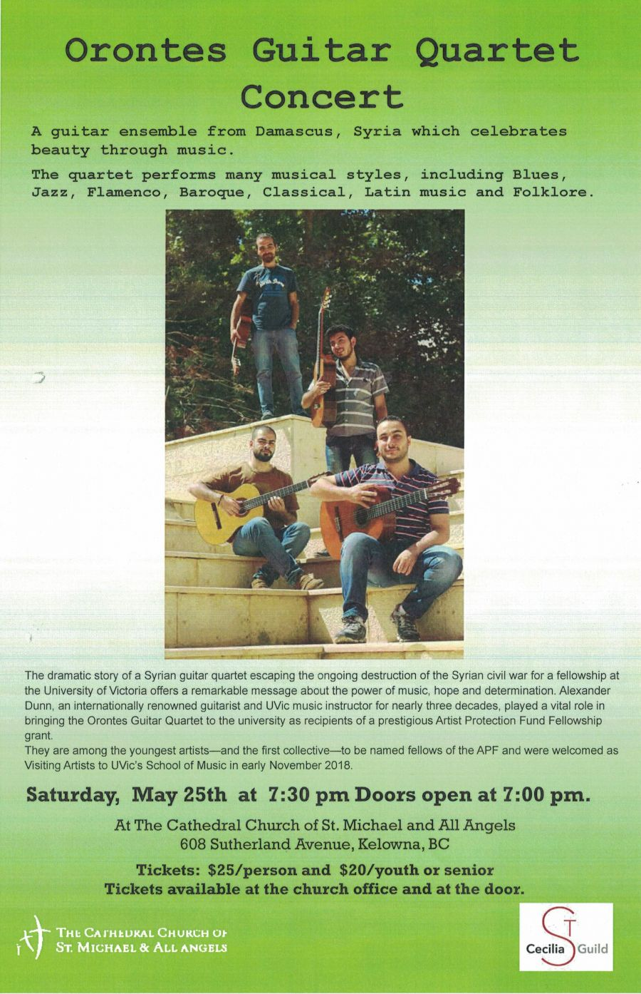 Syrian guitarists who escaped civil war are coming to play in the Okanagan