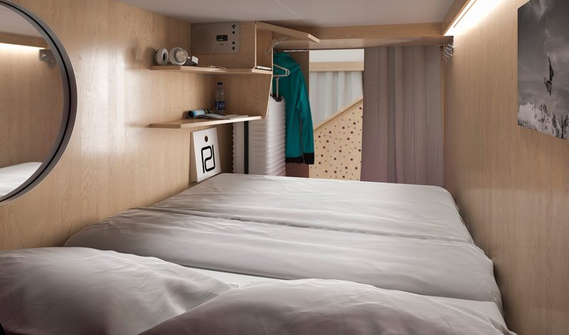 <who>Photo Credit: Pangea Pod Hotel</who>Artists rendering of a sleeping pod.