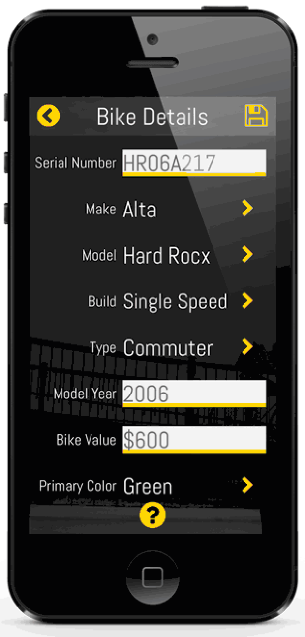 <who> 529 Garage </who> The 529 Garage app helps alert and provide information to law enforcement of the stolen bike.