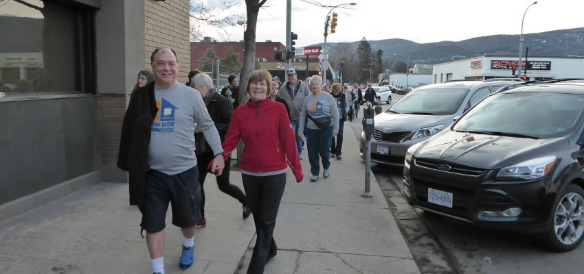 <who>Kelowna Gospel Mission/Facebook</who>Randy and Pam Benson during the Strides to End Homelessness event in March.