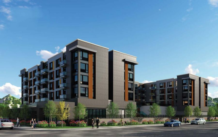 <who> Photo Credit: Cambridge House </who> Artist rendering of the new building on Leon Avenue.