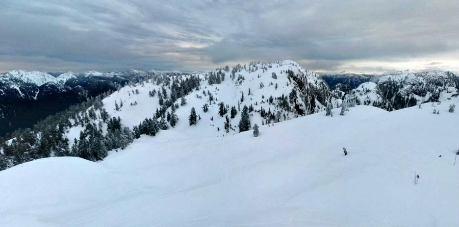 <who>Photo Credit: Google Maps</who>Looking towards Runner Peak from the top of Mount Seymour