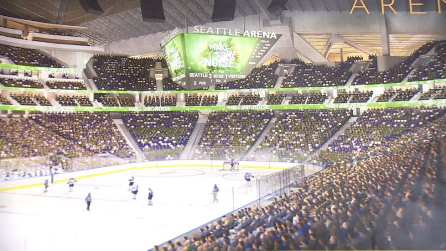 <who>Photo Credit: Oak View Group</who>Seattle's hockey team would play in a renovated Key Arena.