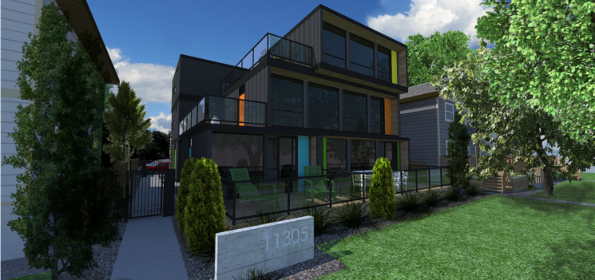 Quick efficient and affordable shipping container for Cheapest way to build a garage with an apartment