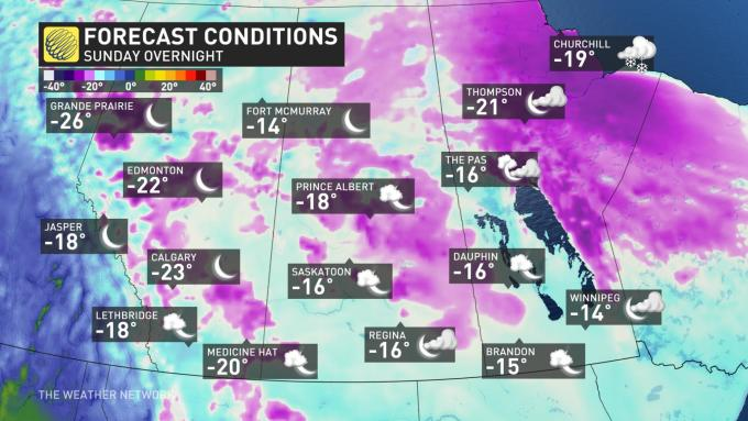 Alberta will be one of the coldest places on earth this weekend