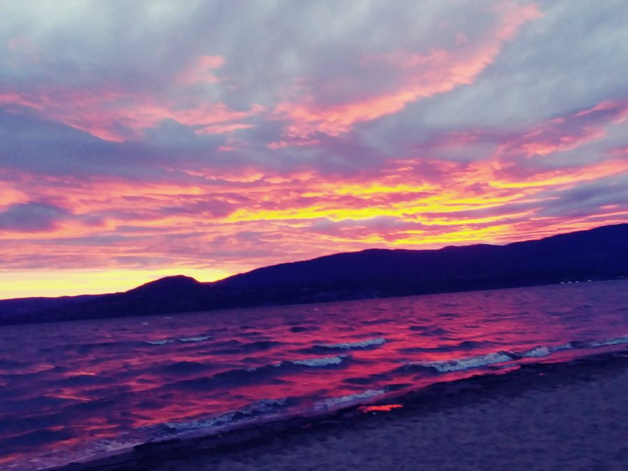 PHOTOS: Kelowna was treated to yet another fiery sunset