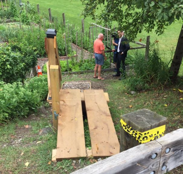 <who>Photo Credit: Shannon McKarney</who>Adi Astl built these stairs for $550, but they were dismantled on Friday.
